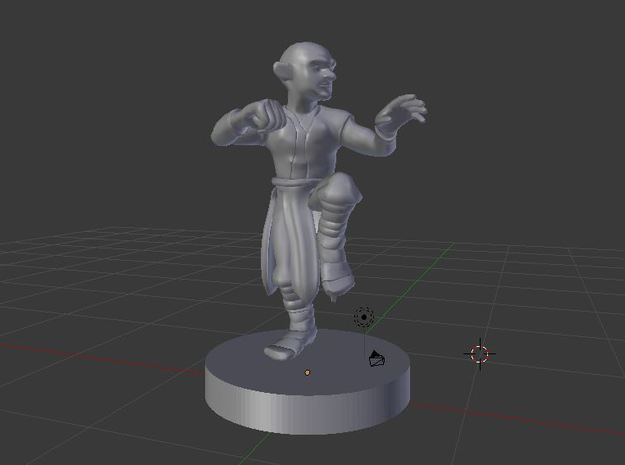 Gnome Monk in White Strong & Flexible