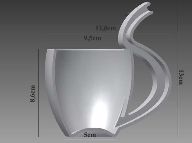 Huge tea mug with tube through which you can drink 3d printed