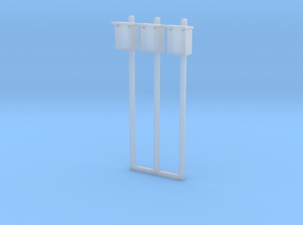 1/87 HO Scale B&M Telephone Boxes On Concrete Pole