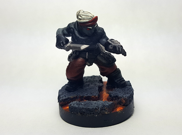 Dwarf Rogue in Black Hi-Def Acrylate