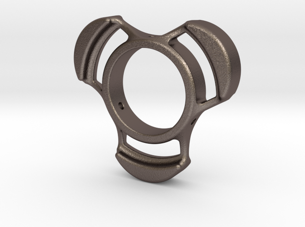 Spinner (Metal) for Small Hands/Kids/Toddlers in Polished Bronzed Silver Steel