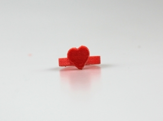 Heart Ring 20x20mm 2 3d printed