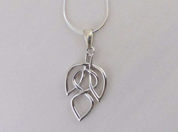 Leaf Celtic Knot Pendant