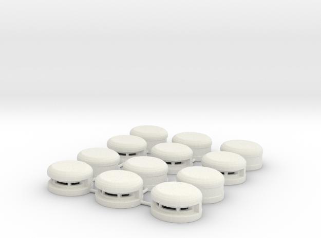 Set of 12 Oval Bunker / Pill Box