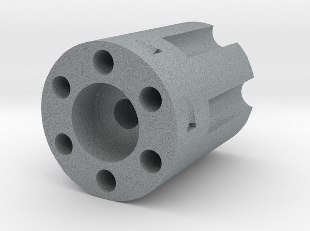 Revolver Bead in Polished Metallic Plastic