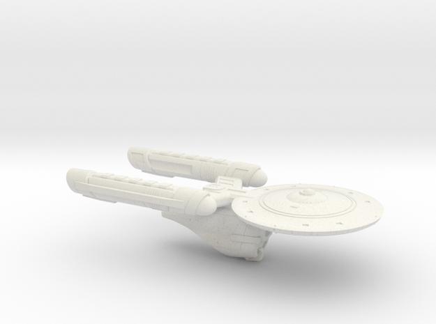 Terran Heavy Cruiser - 1:3125 in White Strong & Flexible