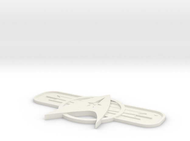 St Twok Badge in White Natural Versatile Plastic