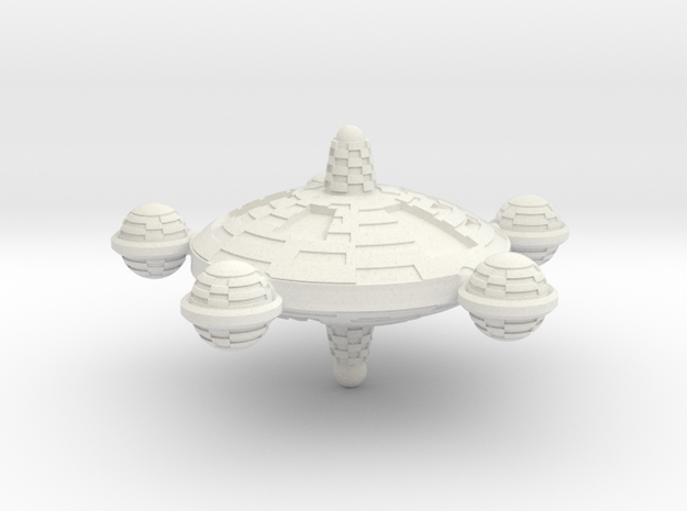 Terran Federal Class Station - 1:20000 in White Natural Versatile Plastic