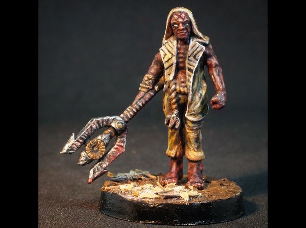 Simon - 28mm Mutant Sorcerer  in Smooth Fine Detail Plastic