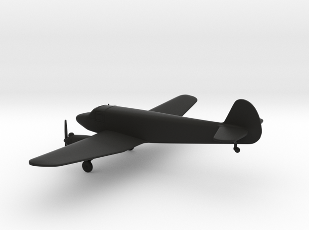 Yakovlev Yak-6 in Black Natural Versatile Plastic: 1:144