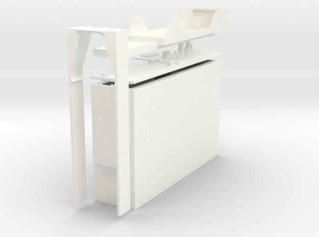 1.4 CONSOLE COCKPIT B1 in White Processed Versatile Plastic