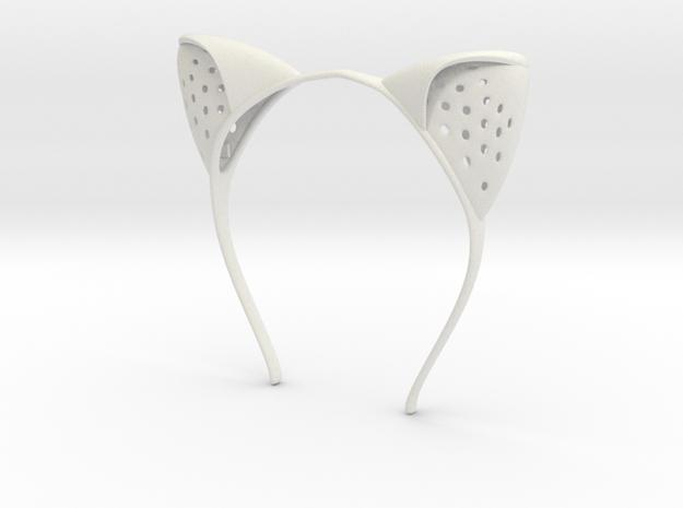 Anouk Wipprecht #ElectronicKittyEars headset in White Strong & Flexible