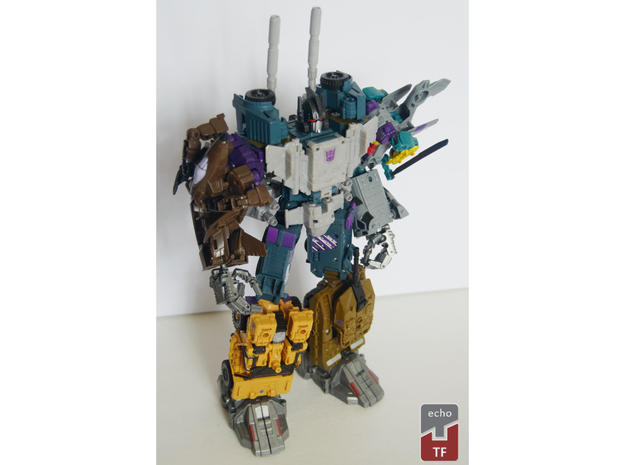 Combiner Wars and Unite Warriors - Bruticus Barrel in White Strong & Flexible