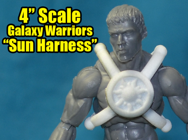 "Galaxy Warriors Sun Harness, 4"" Scale in White Natural Versatile Plastic"