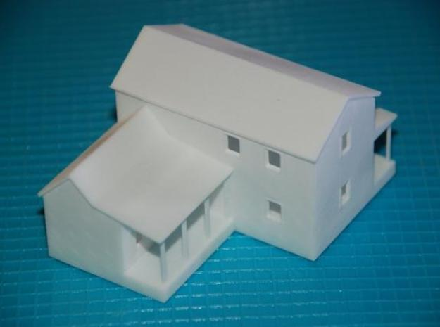 CBR Section Foreman House - Z Scale in White Strong & Flexible