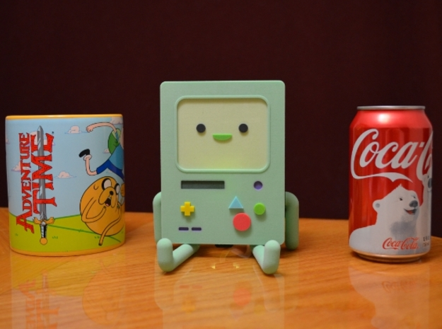 BMO Lamp in Color 3d printed 12oz Coke can for size comparison.