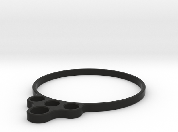 Wire Routing Sleeve - 4 Wire Setup 4wd in Black Natural Versatile Plastic