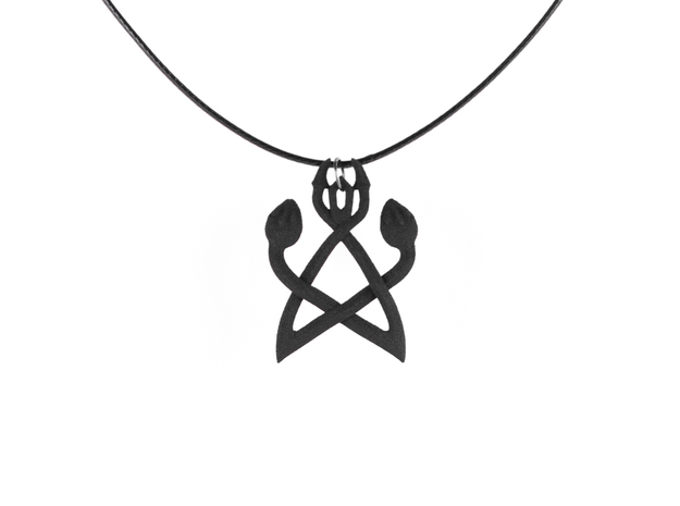 Serpent Synergy Pendant in Black Strong & Flexible