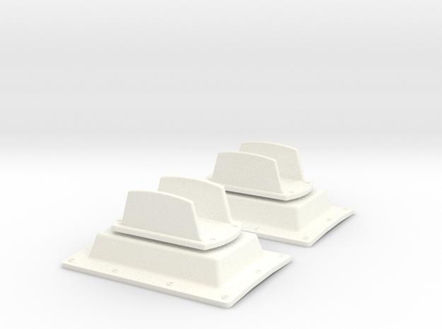 1.10 ANTENNE PLATE DOUBLE SUPER PUMA in White Processed Versatile Plastic