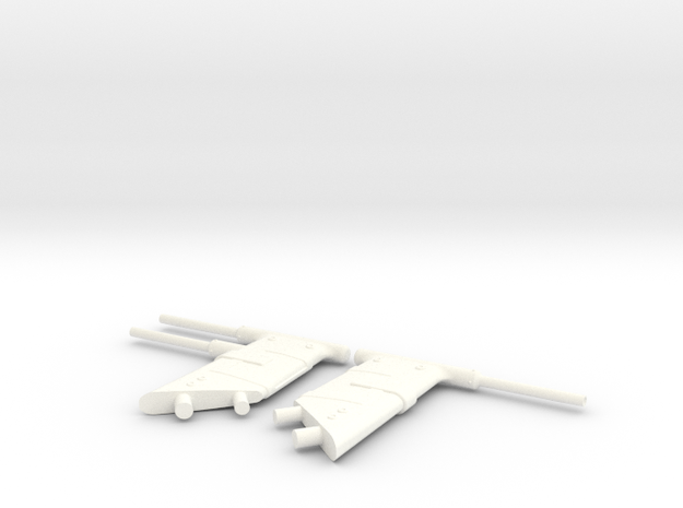 1.10 PITOT SUPER PUMA in White Processed Versatile Plastic