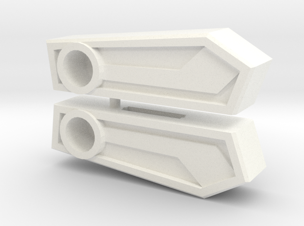 Sixman Wing Toppers in White Strong & Flexible Polished