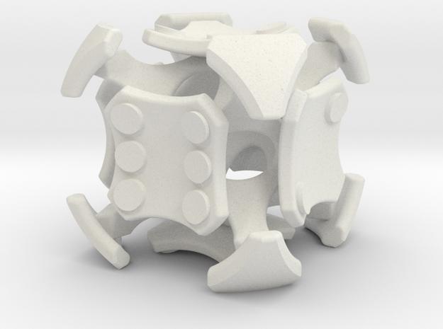 Quantum D6 Pipped in White Natural Versatile Plastic