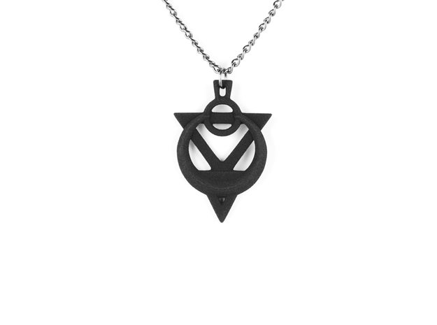 Amulet Of Possession Pendant in Black Natural Versatile Plastic
