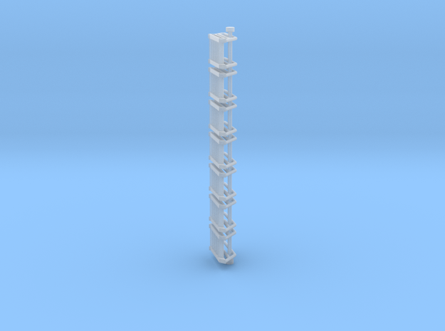 N Scale Stairs 5 (7 pc) in Smooth Fine Detail Plastic