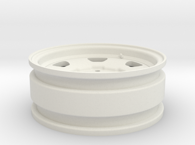 Toyota FJ40 1.7 V2 (RC4WD hubs)  in White Natural Versatile Plastic