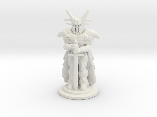Undead Knight Mini 28mm in White Strong & Flexible