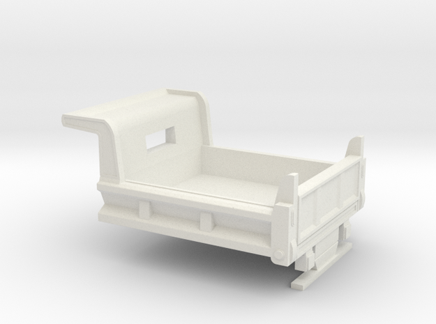 1/64 Dump Bed for Dually Pickups in White Natural Versatile Plastic