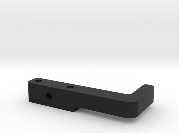 Xray T4 Tapeless Lipo Holder - Rear in Black Natural Versatile Plastic