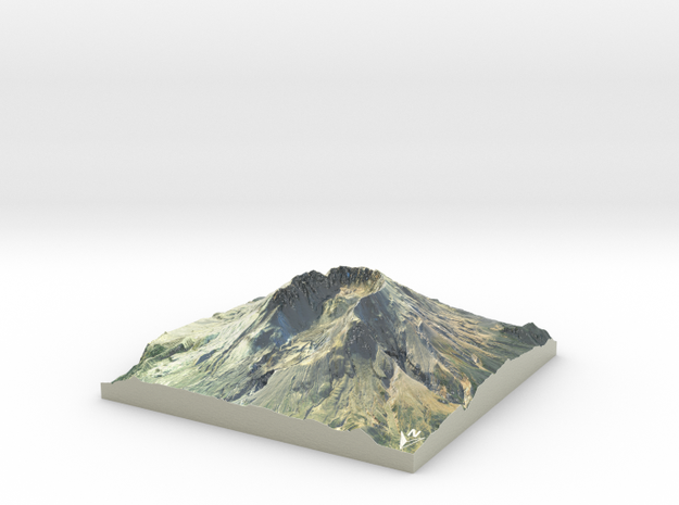 "Mount St. Helens Map: 6"" in Coated Full Color Sandstone"