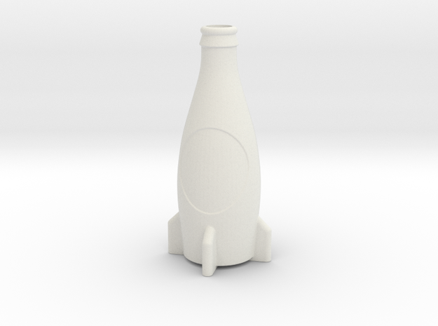 Fallout 4 Inspired Nuka-Cola Accurate Model in White Strong & Flexible