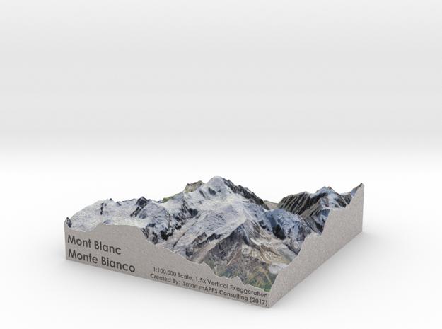 Mont Blanc Map: 100K in Full Color Sandstone