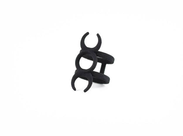Hecate Midi Ring in Black Natural Versatile Plastic: 3 / 44