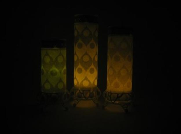 3 Tealight Lanterns 3d printed OOooohhh, pretty in the dark yes?