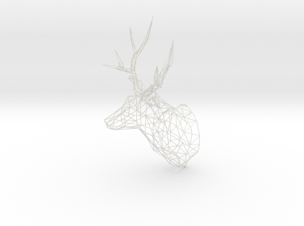 XL Stag Deer Polygon Trophy Head