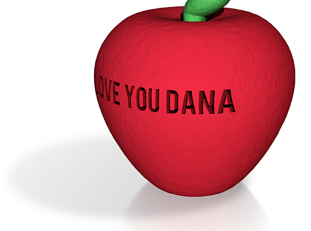 apple dana fixed hollowness and escape letters 3d printed