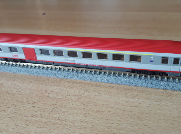 ÖBB ADbmpsz in 1:160 in Smoothest Fine Detail Plastic
