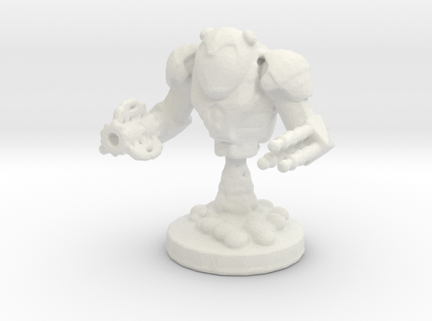Mech Bot in White Natural Versatile Plastic: Small