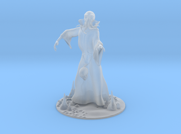 Mind Flayer Miniature in Frosted Extreme Detail: 1:55