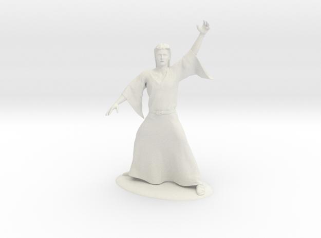 Magic-User Miniature in White Natural Versatile Plastic: 1:55