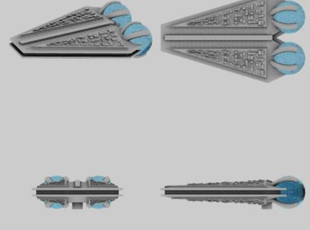 M-Ships Faction 1 Cruiser 3d printed