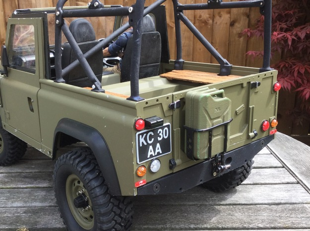 Crawler Number Plate (pair) - Military Land Rover in White Strong & Flexible Polished