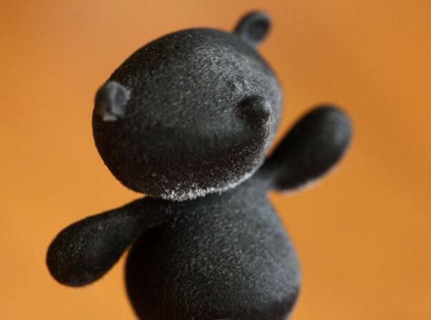 Bear-bear2 3d printed Black detail material - very detailed finish.