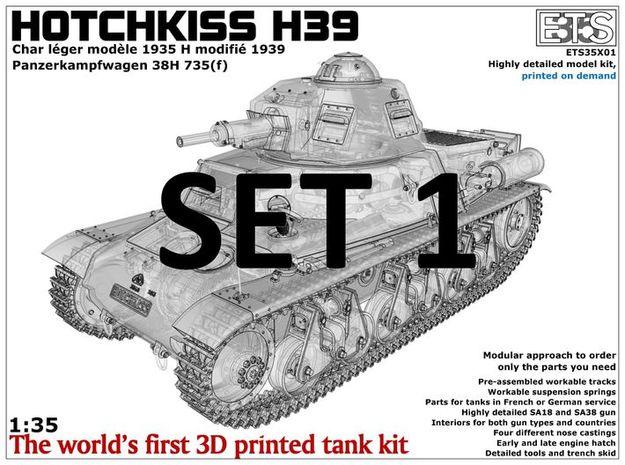 ETS35X01 Hotchkiss H39 - Set 1 in Frosted Ultra Detail