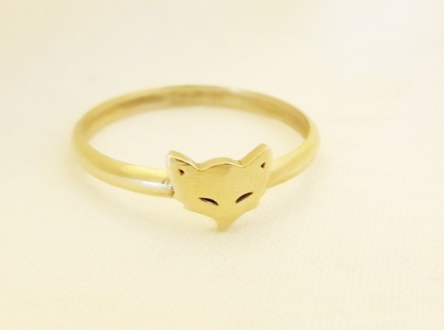 Mischievious Fox Ring™ in Natural Brass: 6 / 51.5