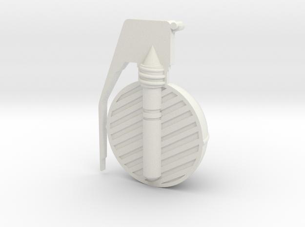 Frag Grenade Cross Section in White Strong & Flexible