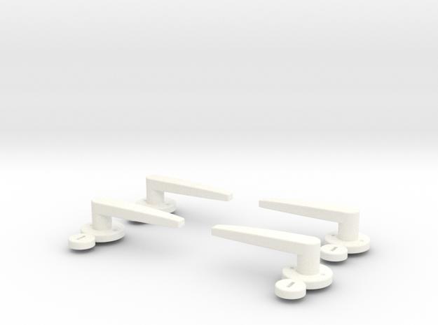 1.4 Poignées De Portes MD500 in White Processed Versatile Plastic